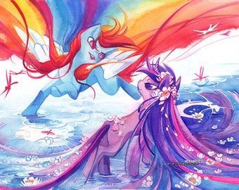 11x17 Twilight Sparkle and Rainbow Dash Poster