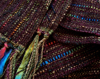 handwoven scarf chocolate brown