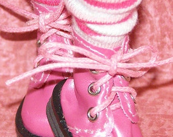 Short Shades Of Pink Striped Socks For Blythe...One Pair Per Listing...