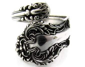 Spoon Ring Size 3 To 8 Rare Cedric Wrapped Demitasse