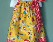 Yellow Cat in the Hat Custom Pillowcase Dress