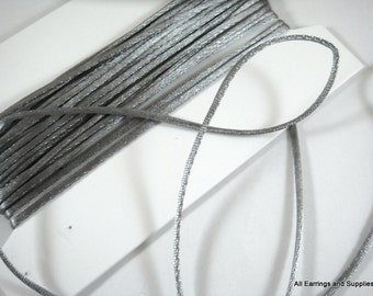 BOGO - 15ft Silver Satin Cord 1mm Bugtail - 5 yds - STR9066CD-SV15 - Buy 1, Get 1 Free - No coupon required