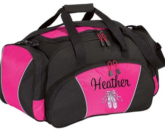 Personalized Duffle Bag Dance Ballet Competition Monogrammed Ballerina Duffel