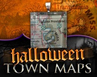 Transylvania, Louisiana Map Pendant