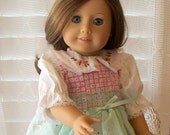 American Girl Doll Clothes Dress with handembroidery Fits American Girl Doll or 18 inch doll