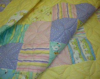 Duck Duck Goose crib quilt - REDUCED