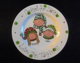 Hand Painted Treats for Santa on Christmas Eve Personalized with your little Elves
