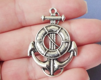 6 Life Ring  Anchor Charms 29x41x2mm ITEM:F17