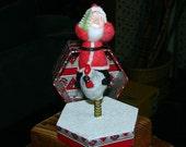 Santa Claus Bobble Figure Chicken Christmas Decoration