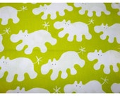 One Yard Ikea Green Hippos by Eva Lundgreen