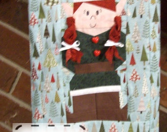 Elves Christmas Stockings Paper Foundation Piecing PDF Sewing Pattern Tutorial Instructions