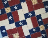 Original Design TEXAS FLAG Rag Quilt Custom Made Just for You from Quilts by Elena Pattern also available
