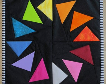 SPECTRUM GEESE Mini Quilt from Quilts by Elena