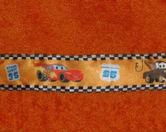 Orange Lightning McQueen Big Hooded Towel