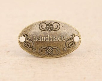 3pcs 31x19mm antique bronze oval charms pendants (J420)