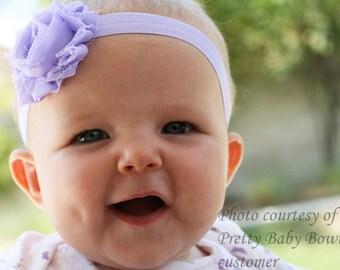 Baby Headband - Lavender Infant Headband - Lavender Baby Girl Headband (LS)