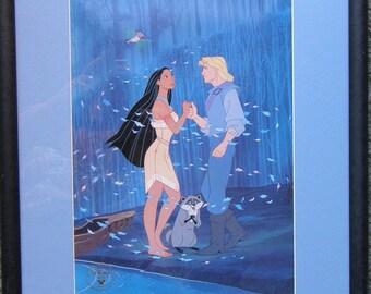 Commemorative  Disney Litjhograph featuring Pocahontas with John Smith