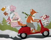 Holiday Fox Greeting Cards - Set of 5