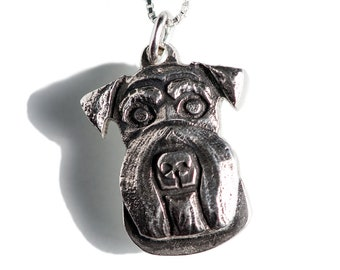 Schnauzer Necklace Jewelry Sterling Silver Dog Pendant Personalized