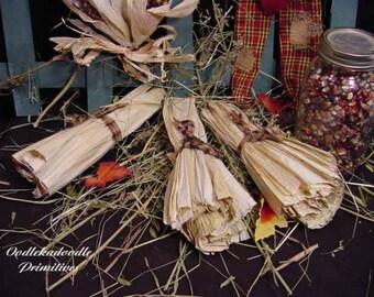 Primitive Prairie Dried Corn Husks Harvest Bowl Filler Fall Tucks