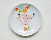 RESERVED FOR RIANNE Atomic birds small plate
