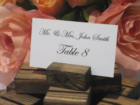 SALE-Rustic Wedding Wood place card holders -Set of 75