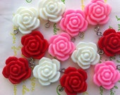 A grade Flower charms 6pcs