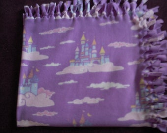 Castles in the Sky NoSew Fleece Blanket