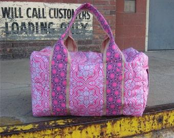 Weekender Duffel Custom and Handmade for You in Pink