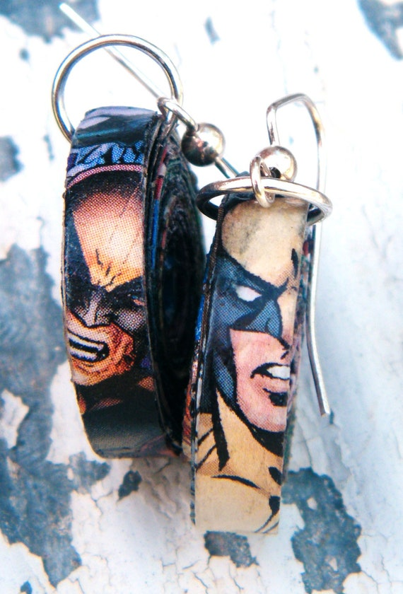 Wolverine Upcycled Earrings