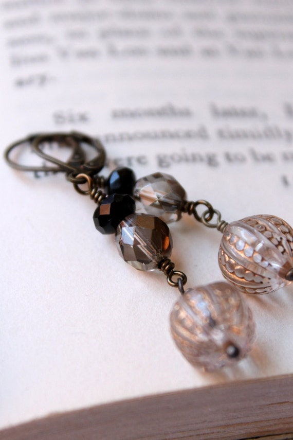 Spring Sale, Golden Gypsy Earrings, Boho Chic, Bohemian, Handmade Earrings, Golden, Jet Black