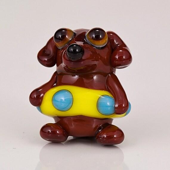 Dachshund in a Floatie Lampwork Dog Bead