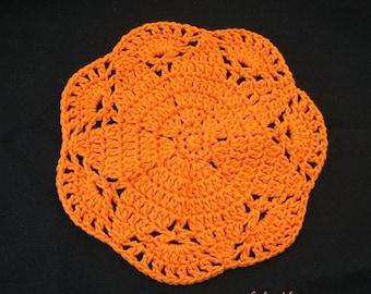 PATTERN  in PDF -- Crocheted circle dishcloth/washcloth, hot pad, potholder, coaster, wash cloth -- Dishcloth 80