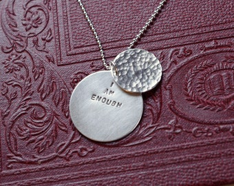 I Am Enough Hidden Message Necklace