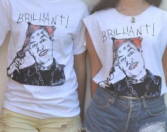 "The Young Ones, Vyvyan Basterd, ""Brilliant"" Cotton Tshirt size MEDIUM"