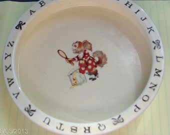 vintage alphabet dish/plate FREE SHIPPING