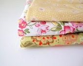destash sale - yellow, green & florals (japanese fabrics)