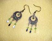 Peridot Swarovski Crystal Chandelier Earrings