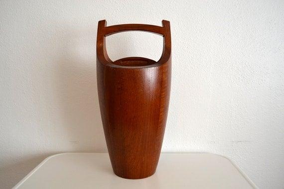 Dansk Staved Teak Ice Bucket - Jens Quistgaard - Denmark