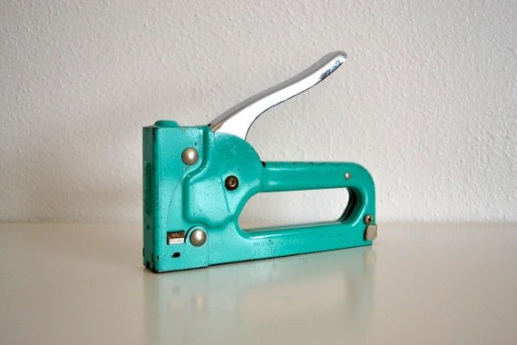 Turquoise Arrow Stapler