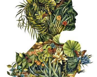 """13"""" x 19"""" Fauna & Flora Cameo Print"""