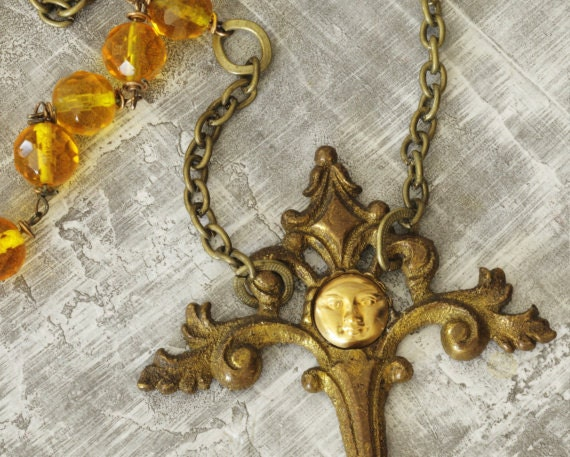 Steampunk Necklace - The Torch - from the 1800s - OOAK necklace