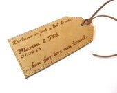 Personalised Leather Luggage Tag, Beige