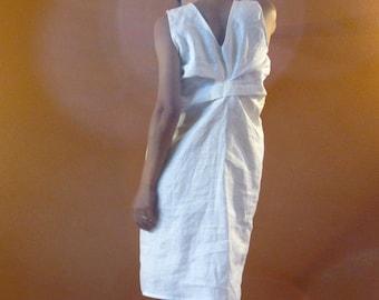 Alternative eco wedding linen bottle fold dress made to measure listing