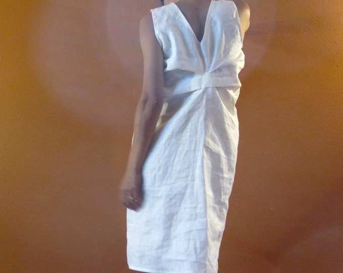 Alternative eco wedding linen bottle fold dress made to measure listing
