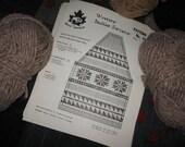 Cowichan-style Snowflake Sweater Pattern in PDF format - Canadian Tradition Vintage White Buffalo Sweater Jacket pattern