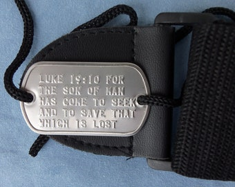 Real 2 Hole Military Dog Tag Made Just 4 Your Guitar Srap FREE SHIPPING