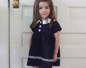 The Nautical Daisy Dress (2T)
