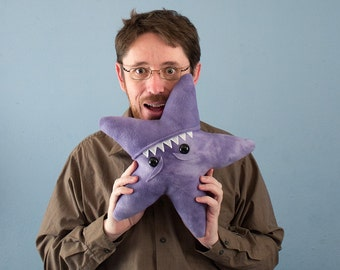 Large Starfish Fleece Plush - Purple Tye-Dye