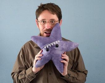 Large Starfish Fleece Plush - Purple Tye-Dye